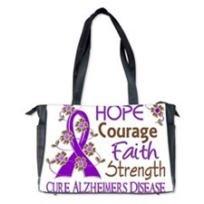 D Hope Courage Faith Strength 3 Alzheim Diaper Bag