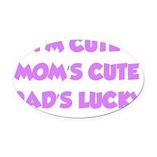 cuteMe1D Oval Car Magnet