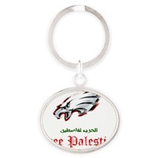 paleagle1 Oval Keychain