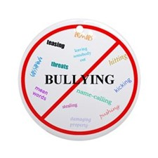 No bullying Round Ornament