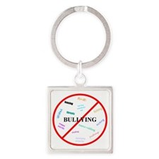 No bullying Square Keychain