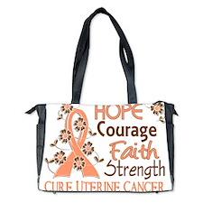 D Hope Courage Faith Strength 3 Uterine Diaper Bag
