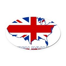 UK INVASION (US ma Oval Car Magnet