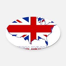 UK INVASION (US ma Oval Car Magnet