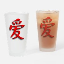 Chinese signs Love 1 Drinking Glass