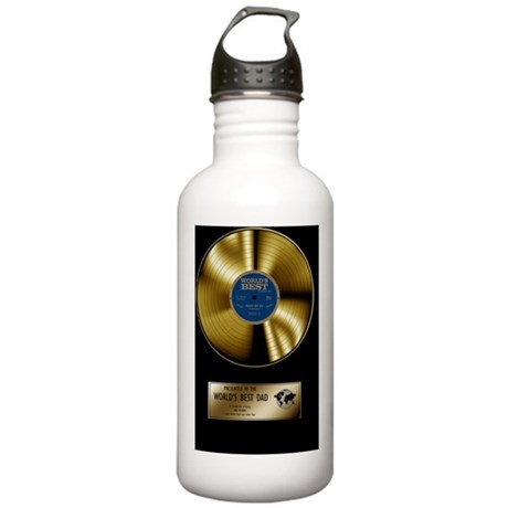 worlds best dad gold d Stainless Water Bottle 1.0L
