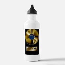 worlds best dad gold d Water Bottle