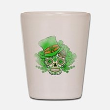 St.Patricks Day Skull Vintage Shot Glass