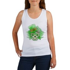 St.Patricks Day Skull Vintage Women's Tank Top
