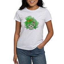 St.Patricks Day Skull Vintage Tee