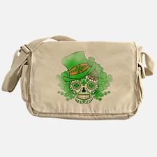 St.Patricks Day Skull Vintage Messenger Bag