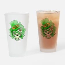St.Patricks Day Skull Vintage Drinking Glass
