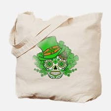 St.Patricks Day Skull Vintage Tote Bag