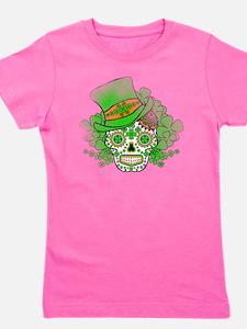 St.Patricks Day Skull Vintage Girl's Tee