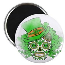 St.Patricks Day Skull Vintage Magnet