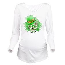 St.Patricks Day Skul Long Sleeve Maternity T-Shirt