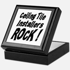 Ceiling Tile Rocks ! Keepsake Box