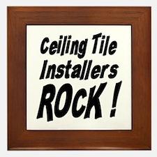 Ceiling Tile Rocks ! Framed Tile