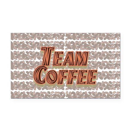 Team Coffee Design 1 Rectangle Car Magnet