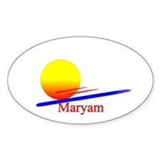 Maryam Oval Decal