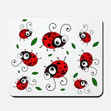 Cute Ladybug Pattern Mousepad