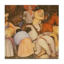 Diego Rivera Art Tile Set - The Exploiters P2of2