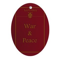 WarAndPeace_thin Oval Ornament