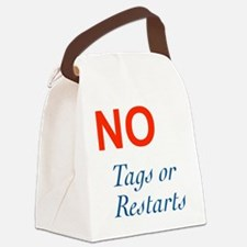 No Tags No Restarts Canvas Lunch Bag
