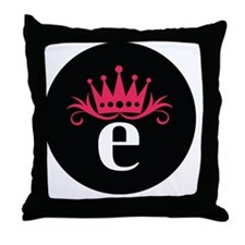 Estro_button Throw Pillow