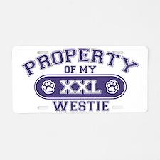 westieproperty Aluminum License Plate