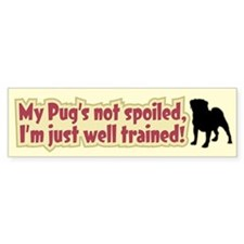 Spoiled Pug - Bumper Bumper Sticker