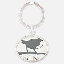 bird-nerd Oval Keychain
