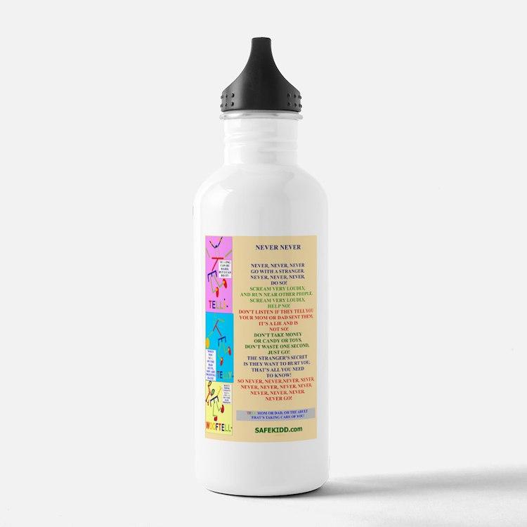 Never Never POSTER 233 Water Bottle