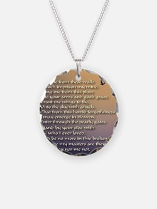 Alzheimers_prayer_calligraph Necklace