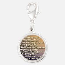 Alzheimers_prayer_calligrapher Silver Round Charm