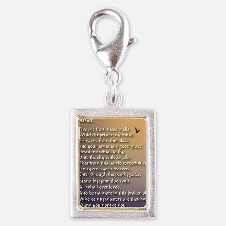 Alzheimers_prayer_calligraph Silver Portrait Charm