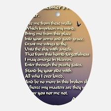 Alzheimers_prayer_calligrapher_tals_ Oval Ornament