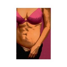 Pink Abs Rectangle Magnet