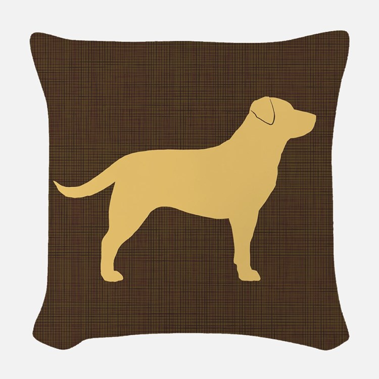 yellowlabpillow Woven Throw Pillow
