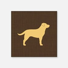 "yellowlabpillow Square Sticker 3"" x 3"""