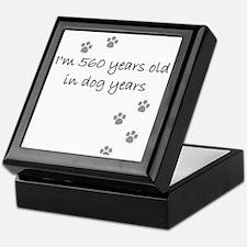 80 dog years 2-1 Keepsake Box