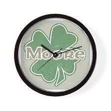 """Shamrock - Moore"" Wall Clock"