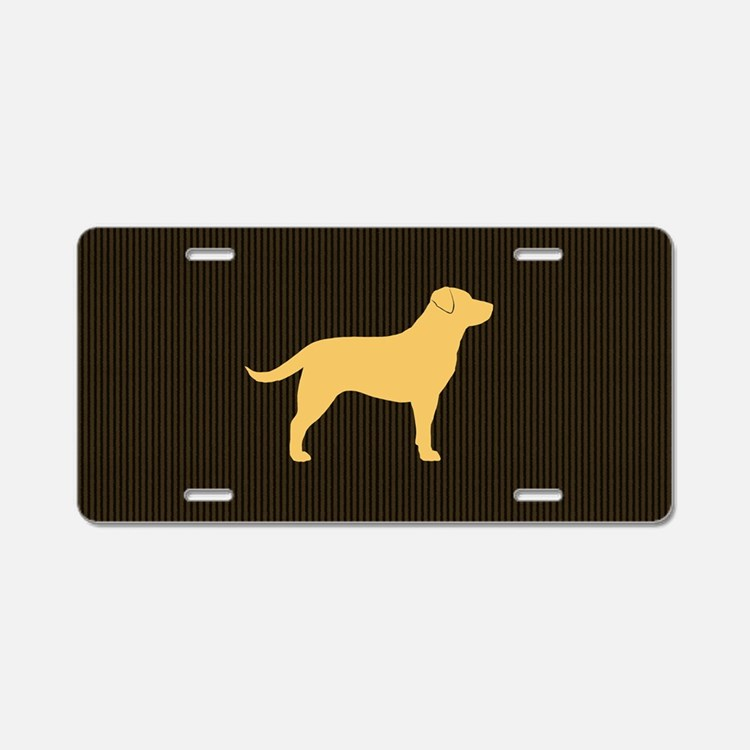 yellowlabbigbag Aluminum License Plate