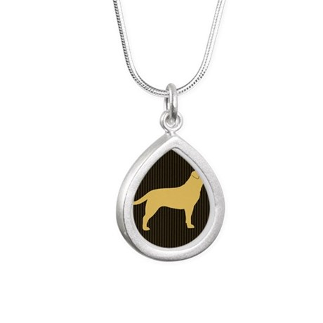 yellowlabpillow Silver Teardrop Necklace