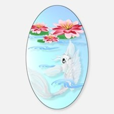 iPod Touch Silver Koi-Pink and Pink Sticker (Oval)