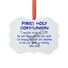 first communion dove BLUE letteri Ornament