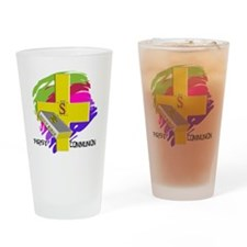 First Communion GOLD CROSS Drinking Glass