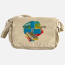 First Communion IHS Blue Cross Messenger Bag