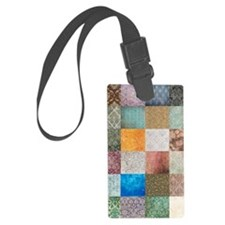 Patchwork Quilt Squares Luggage Tag