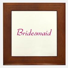 Bridesmaid Framed Tile